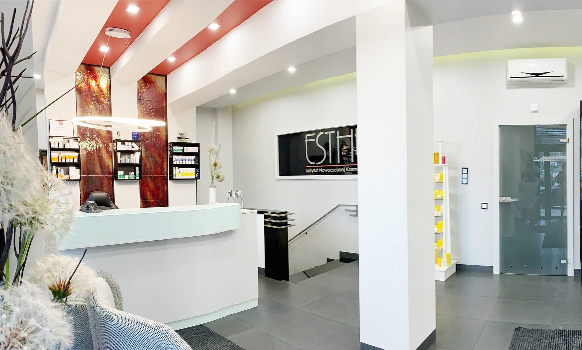Galeria - Wnętrze ESTHE Instytut Nowoczesnej Kosmetyki w Lublinie - recepcja