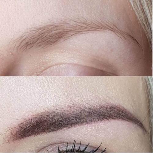 Makijaż permanentny brwi 2 - gabinet kosmetyczny Esthe wLublinie