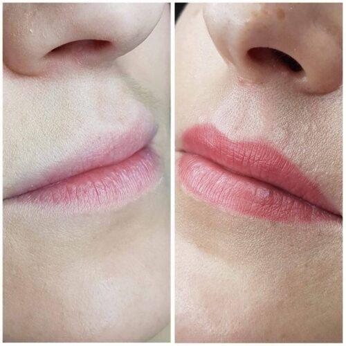 Makijaż permanentny ust 2 - gabinet kosmetyczny Esthe wLublinie